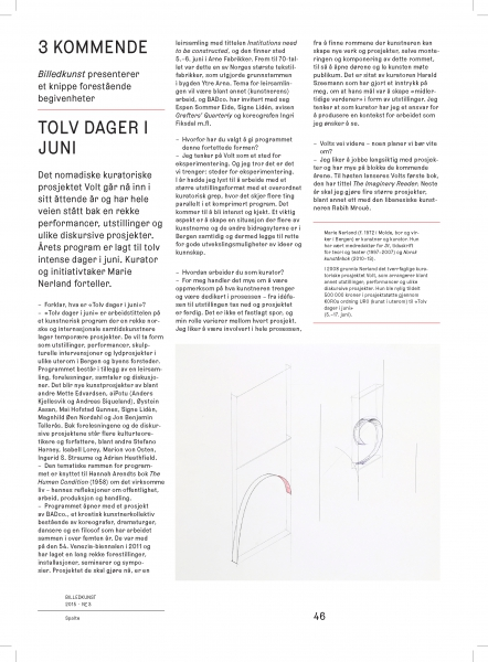 Interview in Billedkunst